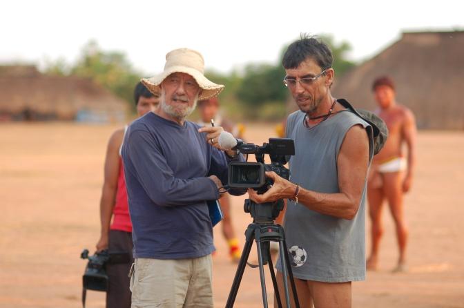 Washington Novaes e Lula Araújo no Xingu