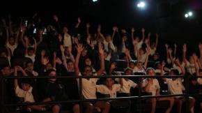 """Sessão infantil no Cine Roxy 4, de Santos. Os filmes foram """"Animais unidos jamais serão vencidos"""" e """"Zarafa""""."""