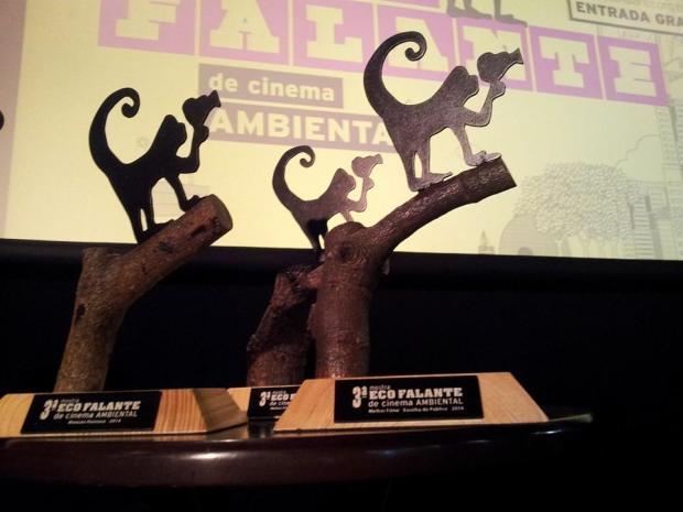 Troféus da Competição Latina da 3ª Mostra Ecofalante de Cinema Ambiental