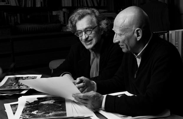 O Diretor Wim Wanders e o fotógrafo Sebastião Salgado