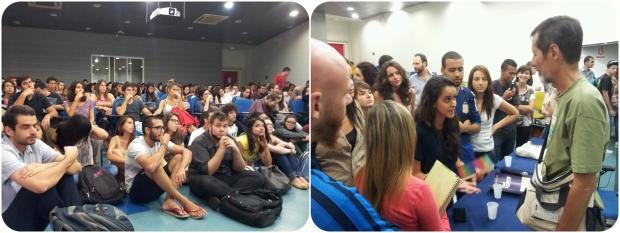 """Sessão de """"A Escala Humana"""" na Each - USP Leste, no dia 12 de Março."""