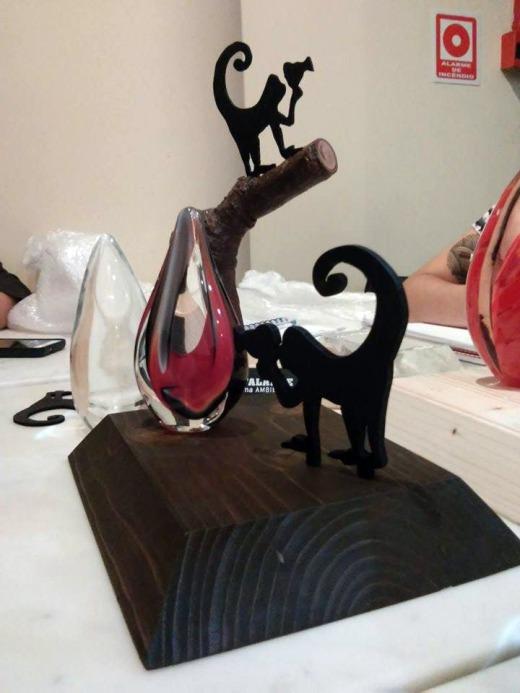 Elaboração dos troféus da Competição Latino-Americana da 4ª Mostra Ecofalante