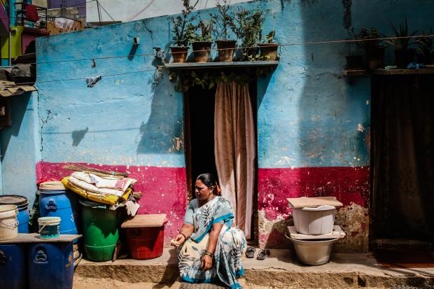 Habitação em Mumbai, Índia, onde existe a maior favela da Ásia